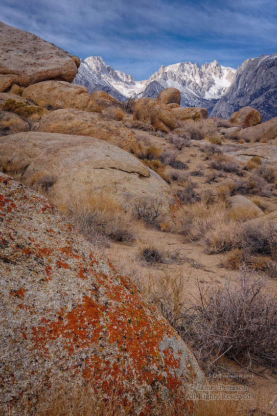 Alabama Hills and Sierra Nevada Range, California