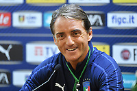 Roberto Mancini coach of Italy attends the press conference <br /> Roma 11-10-2019 Stadio Olimpico <br /> European Qualifiers Qualifying round <br /> Italy - Greece day -1 training<br /> Photo Andrea Staccioli/Insidefoto