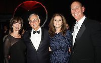 NWA Democrat-Gazette/CARIN SCHOPPMEYER Hannah and Greg Lee (from left) and Barbara Putman and Peter Lane, Walton Arts Center president and CEO, visit at the center's gala.