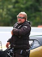 Jun 18, 2017; Bristol, TN, USA; NHRA pro mod driver Shane Molinari during the Thunder Valley Nationals at Bristol Dragway. Mandatory Credit: Mark J. Rebilas-USA TODAY Sports