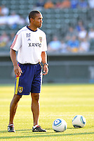 Robin Fraser-Asst Coach Real Salt Lake...Kansas City Wizards and Real Salt Lake played to a 1-1 tie at Community America Ballpark, Kansas City, Kansas.