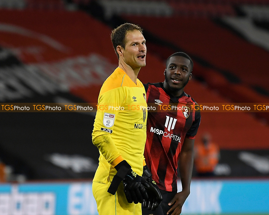 Asmir Begovic of Bournemouth left saved the penalty which gave AFC Bournemouth the win during AFC Bournemouth vs Crystal Palace, Carabao Cup Football at the Vitality Stadium on 15th September 2020