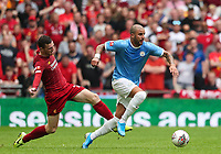 Andrew Robertson of Liverpool and Kyle Walker of Manchester City during the FA Community Shield match between Liverpool and Manchester City at Wembley Stadium on August 4th 2019 in London, England. (Photo by John Rainford/phcimages.com)<br /> Foto PHC/Insidefoto <br /> ITALY ONLY