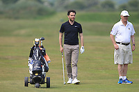 Gerard Dunne (Co. Louth) and his caddy Barry Reddan on the 2nd during Round 4 of the East of Ireland Amateur Open Championship sponsored by City North Hotel at Co. Louth Golf club in Baltray on Monday 6th June 2016.<br /> Photo by: Golffile   Thos Caffrey