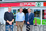 Gleeson's supermarket in the centre of Killarney has reopened last week after it had been destroyed by a gas explosion last year l-r: Jamie and Donagh Gleeson with Ray O'Mahony Spar regional manager