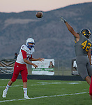 Reno quarterback #6 Drake Vestbie throws against Galena in the first quarter of their football game played on Friday night Sept. 16, 2016 at Galena High School.