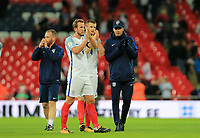 England Harry Kane  applauds the fans with England Dele Alli during the FIFA World Cup 2018 Qualifying Group F match between England and Slovenia at Wembley Stadium on October 5th 2017 in London, England. <br /> Calcio Inghilterra - Slovenia Qualificazioni Mondiali <br /> Foto Phcimages/Panoramic/insidefoto