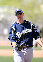 Joe Koshansky, Milwaukee Brewers 2010 minor league spring training..Photo by:  Bill Mitchell/Four Seam Images.