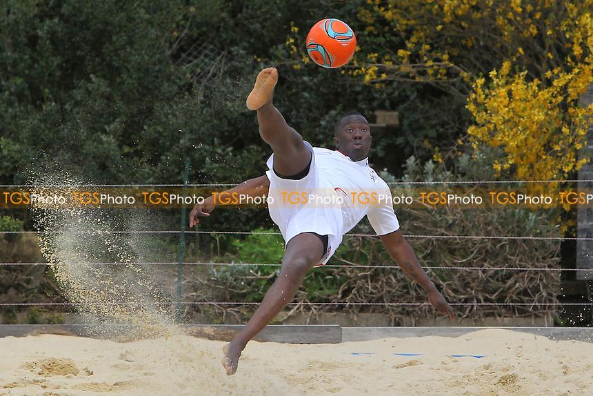 Beach Football at Loxford Park, Ilford, Essex - 27/04/13 - MANDATORY CREDIT: Gavin Ellis/TGSPHOTO - Self billing applies where appropriate - 0845 094 6026 - contact@tgsphoto.co.uk - NO UNPAID USE.