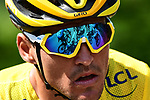Race leader Yellow Jersey Greg Van Avermaet (BEL) BMC Racing Team during Stage 6 of the 2018 Tour de France running 181km from Brest to Mur-de-Bretagne Guerledan, France. 12th July 2018. <br /> Picture: ASO/Alex Broadway | Cyclefile<br /> All photos usage must carry mandatory copyright credit (© Cyclefile | ASO/Alex Broadway)