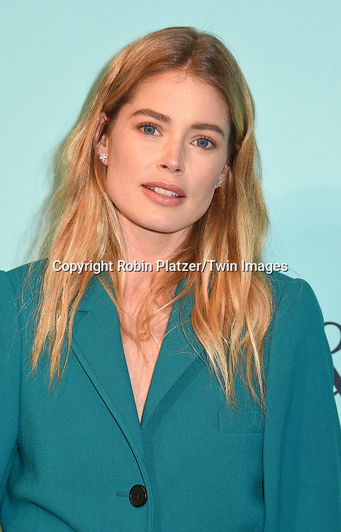 Doutzen Kroes attend the Tiffany &amp; Co 2017 Blue Book Collection on April 21, 2017 at St Ann's Warehouse in Brooklyn, New York, USA.<br /> <br /> photo by Robin Platzer/Twin Images<br />  <br /> phone number 212-935-0770