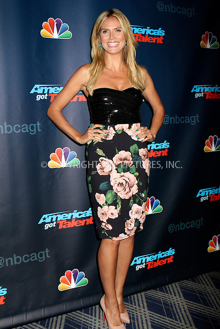 WWW.ACEPIXS.COM<br /> <br /> August 14, 2013 New York City<br /> <br /> Heidi Klum attends the 'America's Got Talent' Post Show Red Carpet at Radio City Music Hall on August 14, 2013.<br /> <br /> <br /> By Line: Nancy Rivera/ACE Pictures<br /> <br /> <br /> ACE Pictures, Inc.<br /> tel: 646 769 0430<br /> Email: info@acepixs.com<br /> www.acepixs.com