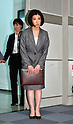 March 27, 2015, Tokyo, Japan - President Kumiko Otsuka of major Japanese furniture retailer Otsuka Kagu Ltd. arrives for a news conference in Tokyo following its annual shareholders meeting on Friday, March 27, 2015. In a proxy fight over management, the companys founder and chairman, Katsuhisa Otsuka, 71, sought to overthrow his daughter, Kumiko but shareholders voted down the chairman's proposal and selected a board favorable to his daughter.  (Photo by Natsuki Sakai/AFLO) AYF -mis-