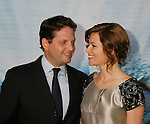 """HOLLYWOOD, CA. - September 24: Producers Elizabeth Banks and Max Handelman arrive at the Los Angeles premiere of """"Surrogates"""" at the El Capitan Theatre on September 24, 2009 in Hollywood, California."""