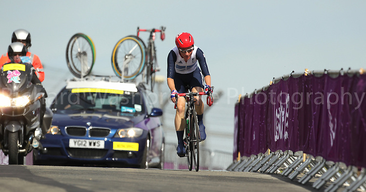 Paralympics London 2012 - ParalympicsGB - Cycling Road..Sarah Storey competing in the Women's Individual C 4-5 Road Race held at Brands Hatch  6th September 2012 Paralympic Games in London. Photo: Richard Washbrooke/ParalympicsGB
