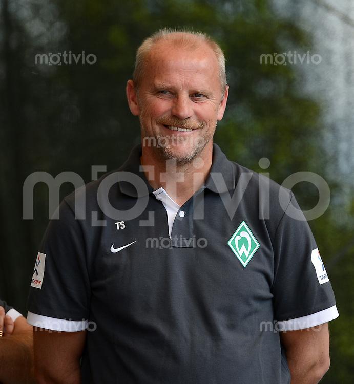 FUSSBALL   1. BUNDESLIGA   SAISON 2012/2013    Tag der Fans beim SV Werder Bremen                     11.08.2012 Trainer Thomas Schaaf (SV Werder Bremen)