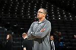 WINSTON-SALEM, NC - JANUARY 23: Wake Forest assistant coach Steve Woodberry. The Wake Forest University Demon Deacons hosted the Duke University Blue Devils on January 23, 2018 at Lawrence Joel Veterans Memorial Coliseum in Winston-Salem, NC in a Division I men's college basketball game. Duke won the game 84-70.