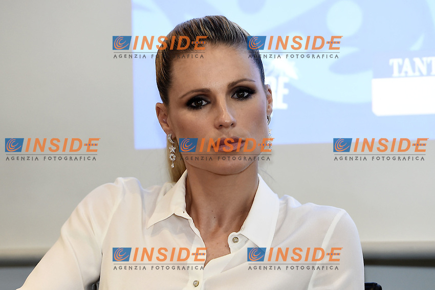 Milano 27-10-2016 - presentazione progetto Doppia Difesa. Press conference of Foundation Double Defense Fund - which provides support and protection to women victims of violence  / foto Daniele Buffa/Image/Insidefoto <br /> nella foto: Michelle Hunziker