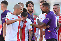 Kevin Prince Boateng of Fiorentina (R) argues with Giuseppe Bellusci of Monza <br /> Firenze 19/08/2019 Stadio Artemio Franchi <br /> Football Italy Cup 2019/2020 <br /> ACF Fiorentina - Monza  <br /> Foto Andrea Staccioli / Insidefoto