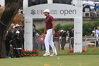 Julian Suri (USA) on the 18th green during Round 3 of the UBS Hong Kong Open, at Hong Kong golf club, Fanling, Hong Kong. 25/11/2017<br /> Picture: Golffile | Thos Caffrey<br /> <br /> <br /> All photo usage must carry mandatory copyright credit     (© Golffile | Thos Caffrey)