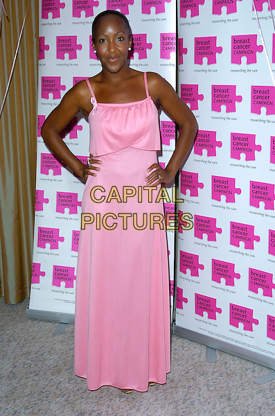 ANJELICA BELL.Attends The Pink Ribbon Ball, The Dorchester Hotel,.London, England, October 6th 2007..full length pink dress long hands on hips.CAP/CAN.©Can Nguyen/Capital Pictures