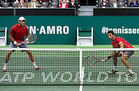 Rotterdam, The Netherlands. 14.02.2014. ABN AMRO World Tennis Tournament, Jean-Julien Rojer(NED)/ Horia Tecau(ROE) <br /> Photo:Tennisimages/Henk Koster