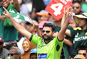 June 18th 2017, The Kia Oval, London, England;  ICC Champions Trophy Cricket Final; India versus Pakistan; Pakistan fan celebrates a boundary