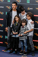 MADRID, SPAIN - NOVEMBER 10: Orson Salazar and Paz Vega with children at the 40 Principales Music Awards at the WiZink Center in Madrid, Spain November 10, 2017. Credit: Jimmy Olsen/Media Punch ***NO SPAIN*** /NortePhoto.com