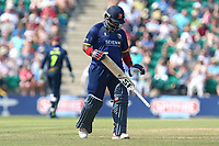 Ashar Zaidi of Essex leaves the field having been dismissed for 1 during Kent Spitfires vs Essex Eagles, NatWest T20 Blast Cricket at The County Ground on 9th July 2017