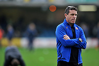 Bath Rugby Head Coach Mike Ford looks on during the pre-match warm-up. Aviva Premiership match, between Bath Rugby and Worcester Warriors on December 27, 2015 at the Recreation Ground in Bath, England. Photo by: Patrick Khachfe / Onside Images