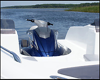 BNPS.co.uk (01202 558833)<br /> Pic: Sealver/BNPS<br /> <br /> The jetski docks with the rest of the boat.<br /> <br /> Is it a boat - Is it a jetski....It's both!<br /> <br /> A futuristic-looking boat that is solely powered by a jetski has hit the market and it could be yours for less than &pound;8,000.<br /> <br /> The Sealver Wave Boat 444 works by allowing most mainstream jetskis to connect to the rear end, both powering and steering the boat. The jetski can then be detached at your leisure with the 14.5ft long vessel left anchored in the sea. <br /> <br /> The process of attaching and detaching the ski is quick and simple with customised adaptor kits allowing the likes of Yamaha, Kawasaki and Sea-Doo to hook up easily. <br /> <br /> Depending on the jetski powering it, the 617.2lb Wave Boat can reach speeds of 50 knots - the equivalent of 57mph.