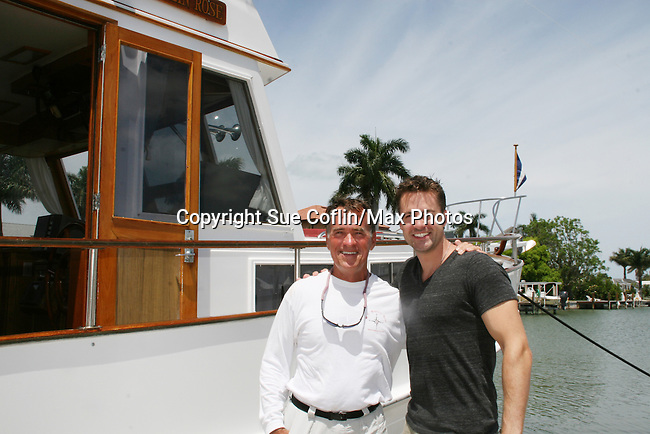 John Driscoll and Capt. Ken - 12th Annual SoapFest - Actors take a break on the Ramblin' Rose with Ken as the captain on May 14, 2010 on Marco Island, FLA. (Photo by Sue Coflin/Max Photos)