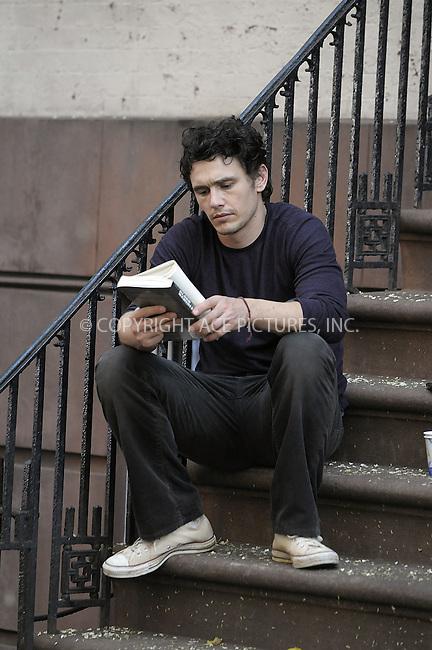 WWW.ACEPIXS.COM . . . . .  ....August 3 2009, New York City....Actor James Franco on the Lower East Side set of the new movie 'East Pray Love' on August 3 2009 in New York City....Please byline: AJ Sokalner - ACEPIXS.COM..... *** ***..Ace Pictures, Inc:  ..tel: (212) 243 8787..e-mail: info@acepixs.com..web: http://www.acepixs.com