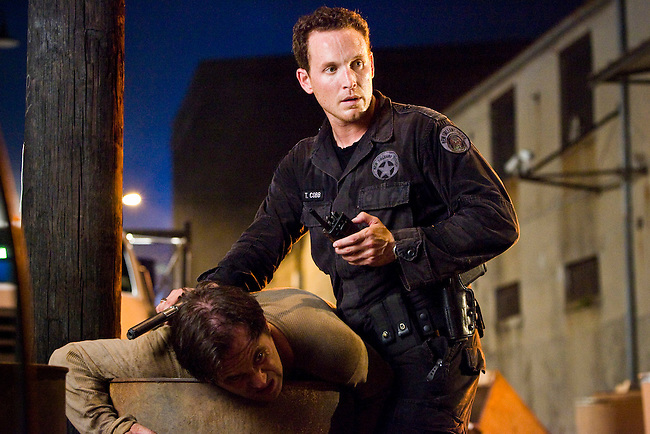 Cole Hauser as Trevor Cobb in Fox Television's 'K-Ville' - a police drama set in New Orleans after Hurricane Katrina.
