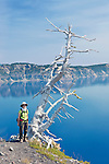 USA, OR, Crater Lake NP, Hiking on Wizard Island
