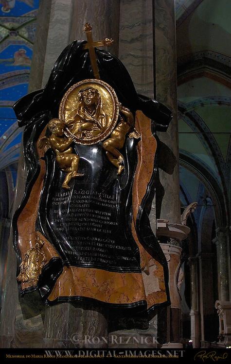 Monument to Maria Raggi GianLorenzo Bernini 1653 Santa Maria sopra Minerva Campus Martius Rome