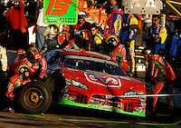 Nov 13, 2005; Phoenix, Ariz, USA;  Nascar Nextel Cup driver Jeremy Mayfield driver of the #19 Dodge Charger makes a pit stop during the Checker Auto Parts 500 at Phoenix International Raceway. Mandatory Credit: Photo By Mark J. Rebilas