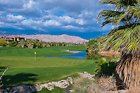 Golf Course Fairway, Green, Yellow Flag, Water, Hazard, Palm Desert