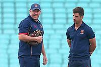 Essex head coach Anthony McGrath (L) looks on ahead of Surrey vs Essex Eagles, Vitality Blast T20 Cricket at the Kia Oval on 12th July 2018