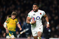 Joe Cokanasiga of England runs in a try in the second half. Quilter International match between England and Australia on November 24, 2018 at Twickenham Stadium in London, England. Photo by: Patrick Khachfe / Onside Images