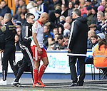 Sheffield United's Nigel Adkins looks on as Alex Baptiste goes off injured during the League One match at The Den.  Photo credit should read: David Klein/Sportimage