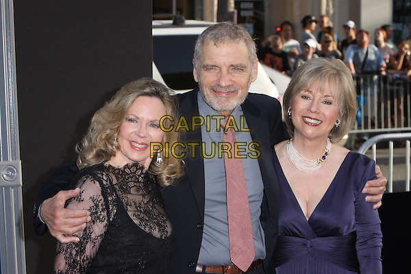 Lara Parker, David Selby and Kathryn Leigh Scott.'Dark Shadows' Los Angeles premiere held at Grauman's Chinese Theatre, Hollywood, California, USA..7th May 2012.half length black lace dress blue grey gray shirt blue pink tie beard facial hair.CAP/ADM/CH.©Charles Harris/AdMedia/Capital Pictures