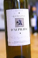 Les Plos de Baumes.2004 Vin de Pays de l'Herault. Domaine d'Aupilhac. Montpeyroux. Languedoc. France. Europe. Bottle.