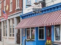 Water Street seafood Cafe, Stonington, Connecticut, USA.