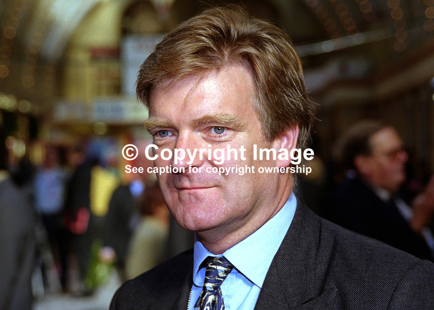 Edward Garnier, MP, Conservative Party, UK, at annual conference, Blackpool. QC, 199910074..Copyright Image from Victor Patterson, 54 Dorchester Park, Belfast, United Kingdom, UK. Tel: +44 28 90661296. Email: victorpatterson@me.com; Back-up: victorpatterson@gmail.com..For my Terms and Conditions of Use go to www.victorpatterson.com and click on the appropriate tab.