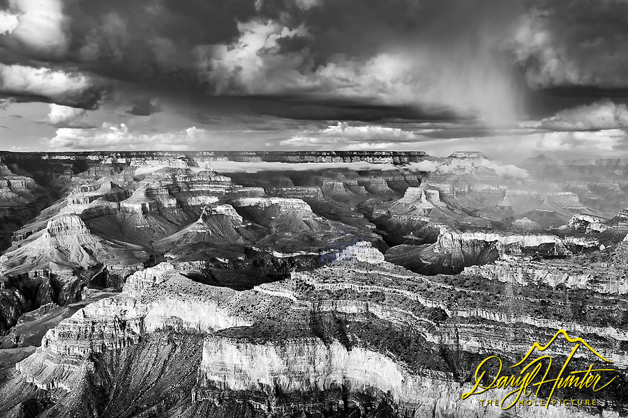 Stormy Sky at the Grand Canyon in Black and White