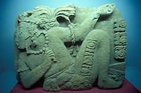 Reclining Mayan figure in the Museo Regional de Chiapas, a regional archaeological museum in Tuxtla Gutierrez, Chiapas, Mexico