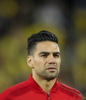 Colombia Radamel Falcao before the International Friendly match between Colombia and Australia at Craven Cottage, London, England on 27 March 2018. Photo by Andrew Aleksiejczuk / PRiME Media Images.