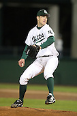 February 20, 2010:  Pitcher Lindsey Caughel (13) of the Stetson Hatters during the teams opening series at Melching Field at Conrad Park in DeLand, FL.  Photo By Mike Janes/Four Seam Images