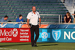 01 June 2016: Carolina head coach Colin Clarke (NIR). The Carolina RailHawks hosted the Charlotte Independence at WakeMed Stadium in Cary, North Carolina in a 2016 Lamar Hunt U.S. Open Cup third round game. The RailHawks won 5-0 after extra time after regulation ended in a 0-0 tie.
